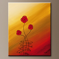 Flower Bouquet Abstract Art Les Fleurs - Art Gallery