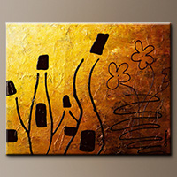 Abstract Art for Sale - Les Vins Blancs - Art Canvas