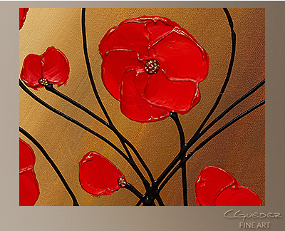 Life is Grand Modern Abstract Art Painting -Wall Art Close Up