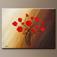 Floral Abstract Painting - Life is Grand - Original Painting