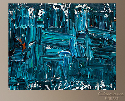 Like Night and Day Modern Abstract Art Painting -Wall Art Close Up