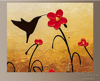 Lovely Bird Modern Abstract Art Painting -Wall Art Close Up