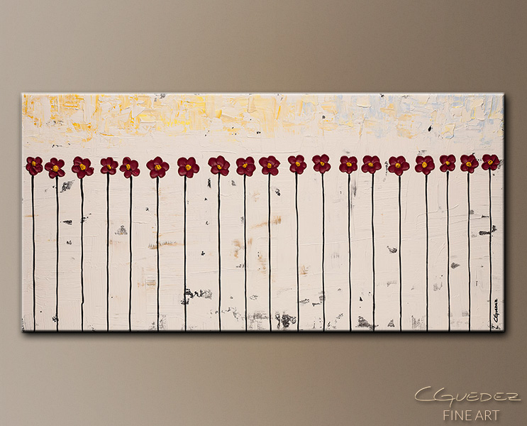 Lullaby - Abstract Art Painting Image by Carmen Guedez