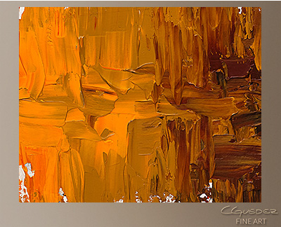 Luminescence Modern Abstract Art Painting -Wall Art Close Up