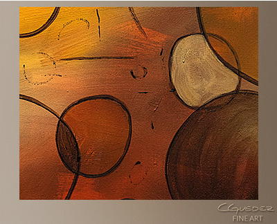 Make a Wish Modern Abstract Art Painting -Wall Art Close Up