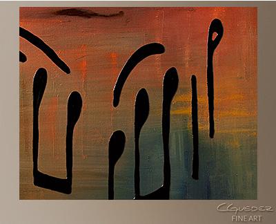 Meditation Modern Abstract Art Painting -Wall Art Close Up