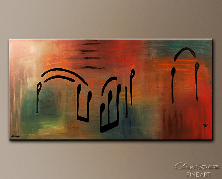 Meditation - Abstract Art Painting Image by Carmen Guedez