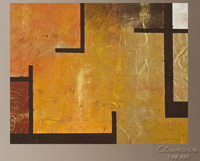Memorable Lines Modern Abstract Art Painting -Wall Art Close Up