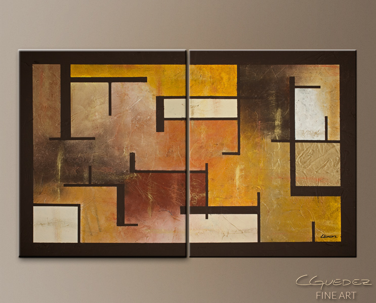 Memorable Lines - Abstract Art Painting Image by Carmen Guedez