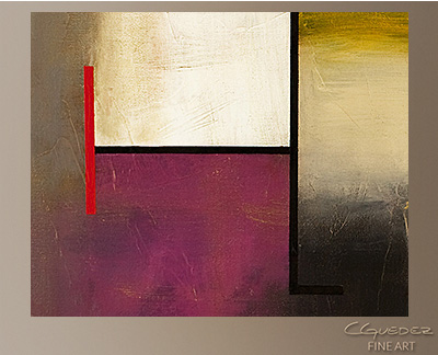 Mistaken Identity Modern Abstract Art Painting -Wall Art Close Up