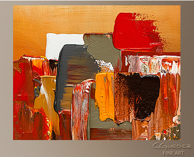 Moda Modern Abstract Art Painting -Wall Art Close Up