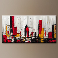 Modern City Abstract Art - Modern City - Original Painting