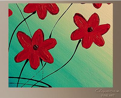 Mon Cheri Modern Abstract Art Painting -Wall Art Close Up