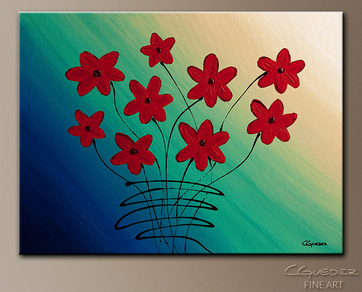 Mon Cheri - Abstract Art Painting Image by Carmen Guedez