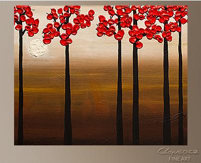 Moonlight Modern Abstract Art Painting -Wall Art Close Up