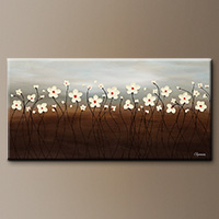 Abstract Art Painting - Morning Haze - Canvas Painting