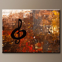 Music for the Soul-Flowers Art Gallery-Abstract Art Paintings Image