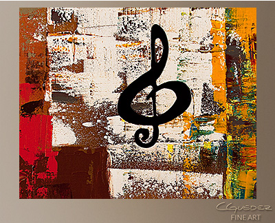 Music World Tour Modern Abstract Art Painting -Wall Art Close Up