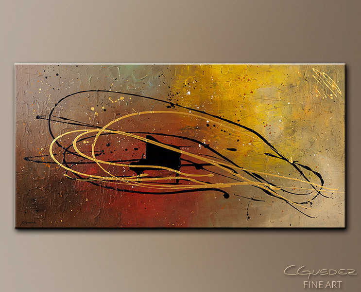 Musique en Mouvement - Abstract Art Painting Image by Carmen Guedez