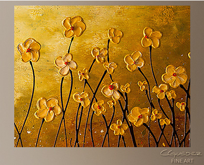 My Peaceful Place Modern Abstract Art Painting -Wall Art Close Up