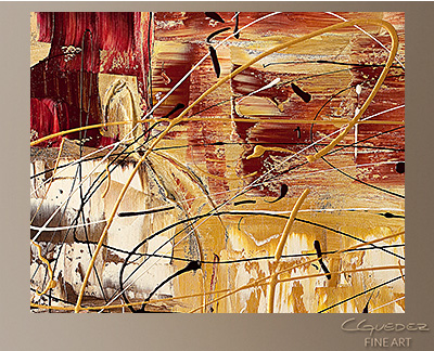 New World Modern Abstract Art Painting -Wall Art Close Up