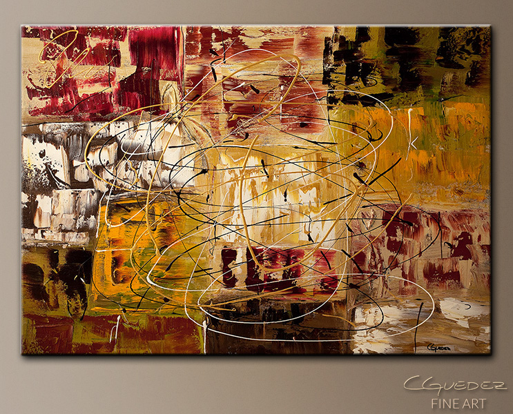 New World - Abstract Art Painting Image by Carmen Guedez