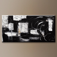 Black and White Abstract Art - Noir et Blanc - Original Painting