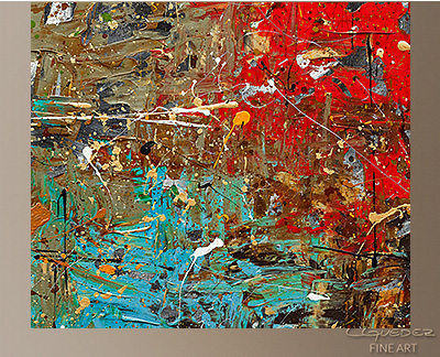 Now or Never Modern Abstract Art Painting -Wall Art Close Up