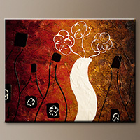 Wine Abstract Art Painting - Oak Aged Whites - Large Art