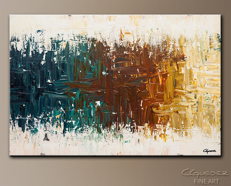 Oasis - Abstract Art Painting Image by Carmen Guedez