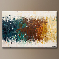 Abstract Painting on Canvas - Oasis - Original Art