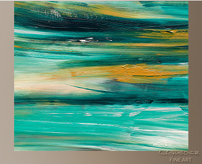 Ocean View Modern Abstract Art Painting -Wall Art Close Up