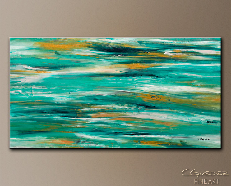 Ocean View - Abstract Art Painting Image by Carmen Guedez