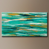 Large Abstract Art Painting - Ocean View - Art Gallery