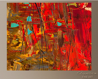 Oh No, Oh Si Modern Abstract Art Painting -Wall Art Close Up