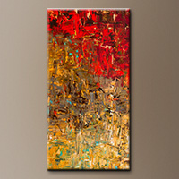 Oversized Vertical Abstract Art - Oh No, Oh Si - Large Abstract