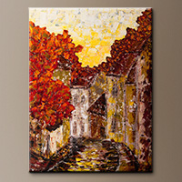 Impressionist Art Painting - Old Country - Original Art