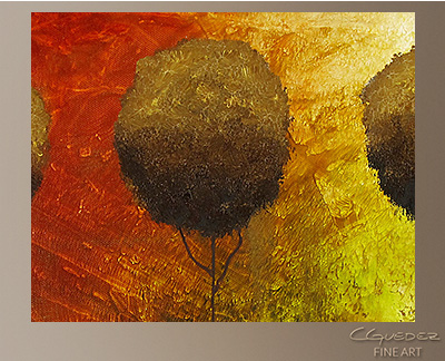 Once Upon a Time Modern Abstract Art Painting -Wall Art Close Up