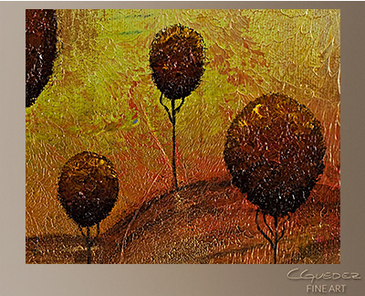 One Tree Hills Modern Abstract Art Painting -Wall Art Close Up