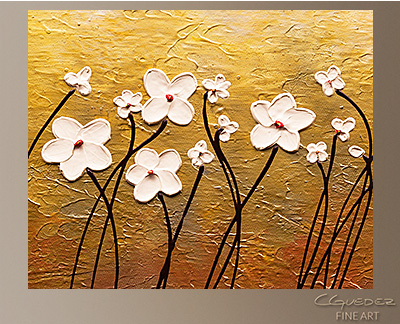 Paraiso de Flores Modern Abstract Art Painting -Wall Art Close Up