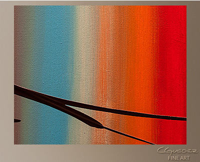 Passage of Time Modern Abstract Art Painting -Wall Art Close Up
