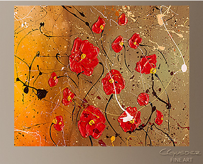 Passione Modern Abstract Art Painting -Wall Art Close Up