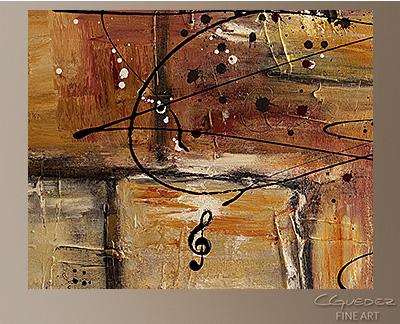 Path to Heaven Modern Abstract Art Painting -Wall Art Close Up