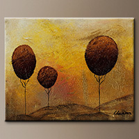 Landscape Abstract Art Painting - Peace and Love - Art Gallery