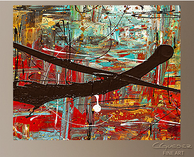 Peace on Earth Modern Abstract Art Painting -Wall Art Close Up