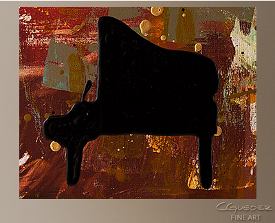Piano Concerto Modern Abstract Art Painting -Wall Art Close Up