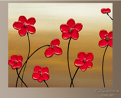 Playful Meadow Modern Abstract Art Painting -Wall Art Close Up