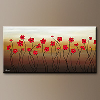 Abstract Painting - Playful Meadow - Contemporary Art