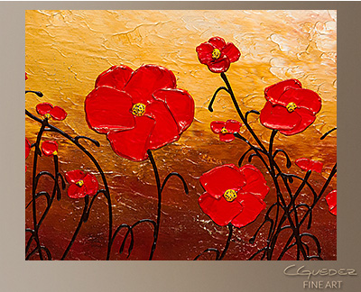 Poppy meadow abstract art on canvas floral abstract painting poppy meadow modern abstract art painting wall art close up mightylinksfo Image collections