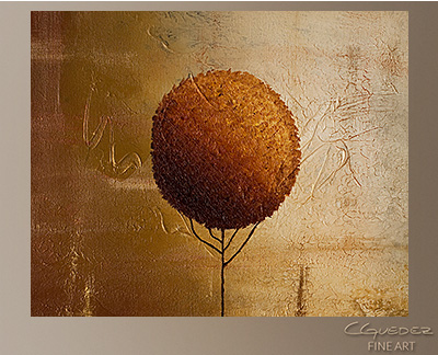 Prosperity Modern Abstract Art Painting -Wall Art Close Up